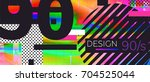 abstract retro background back... | Shutterstock .eps vector #704525044