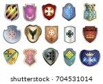 heraldic shields. vector image... | Shutterstock .eps vector #704531014
