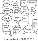 speech bubble set on white... | Shutterstock .eps vector #704539210