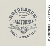 motor show california.  hand... | Shutterstock .eps vector #704544190
