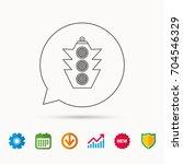 traffic light icon. safety... | Shutterstock .eps vector #704546329