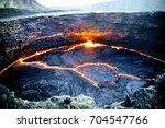 erta ale volcano danakil... | Shutterstock . vector #704547766