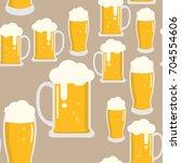 beer seamless pattern | Shutterstock .eps vector #704554606