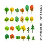 different season tree... | Shutterstock .eps vector #704555338