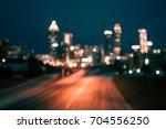 Bokeh Lights Of Modern City...