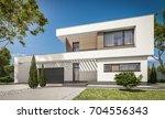 3d rendering of modern cozy... | Shutterstock . vector #704556343