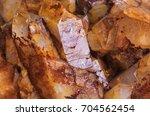 close up of crystals of quartz... | Shutterstock . vector #704562454