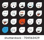 set of emoticons or emoji.... | Shutterstock . vector #704563429