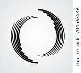 lines in circle form . spiral... | Shutterstock .eps vector #704563546