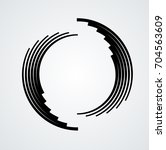 lines in circle form . spiral... | Shutterstock .eps vector #704563609