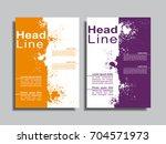 flyers report brochure cover... | Shutterstock .eps vector #704571973