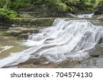Small photo of Numerous waterfalls and rapids are viable right along the gorge trail on Enfield Creek in Robert Treman State Park, Tompkins County, New York