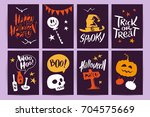vector collection of cartoon... | Shutterstock .eps vector #704575669
