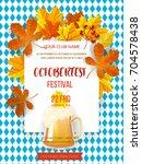 autumn leaves on background... | Shutterstock .eps vector #704578438