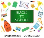 back to school banner with... | Shutterstock .eps vector #704578630