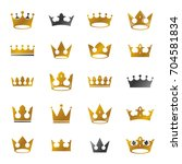 royal crowns ancient emblems... | Shutterstock .eps vector #704581834