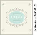 vintage ornament greeting card... | Shutterstock .eps vector #704587183