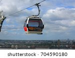 the emirates cable car which... | Shutterstock . vector #704590180