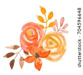 Watercolor Fall Flower Bouquet...