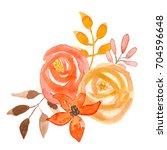Watercolor Fall Flower Bouquet...
