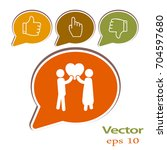 flat icon family. love between... | Shutterstock .eps vector #704597680