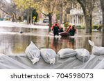 Flood Protection Sandbags With...