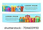 Gift Boxes. Holiday Horizontal...