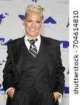 pink at the 2017 mtv video... | Shutterstock . vector #704614810