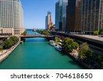 aerial shot chicago river   Shutterstock . vector #704618650