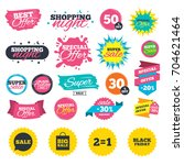 sale shopping banners. sale... | Shutterstock .eps vector #704621464