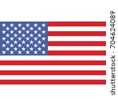united states of america flag ... | Shutterstock . vector #704624089