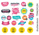 sale shopping banners. mobile... | Shutterstock .eps vector #704624134