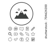 mountain icon. mountaineering... | Shutterstock .eps vector #704624200