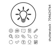 light lamp sign icon. idea... | Shutterstock .eps vector #704624764