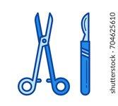 surgical instruments vector... | Shutterstock .eps vector #704625610
