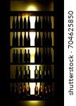 bottles of wine in the shop   Shutterstock . vector #704625850