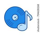 vinyl record vector line icon... | Shutterstock .eps vector #704628268