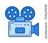 retro camera vector line icon... | Shutterstock .eps vector #704629030