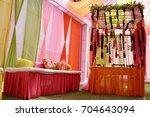 wedding decoration element.  | Shutterstock . vector #704643094