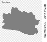 high quality map of west java... | Shutterstock .eps vector #704644738
