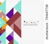triangle pattern design... | Shutterstock . vector #704647738