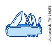 multi tool vector line icon... | Shutterstock .eps vector #704658358