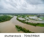 view of the devastation of... | Shutterstock . vector #704659864