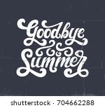vector illustration of goodbye... | Shutterstock .eps vector #704662288