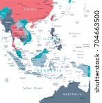 southeast asia map   detailed... | Shutterstock .eps vector #704663500