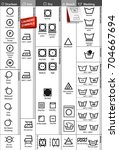 set of laundry symbols. vector...   Shutterstock .eps vector #704667694