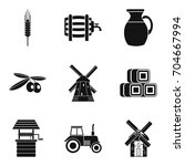 well icons set. simple set of 9 ...   Shutterstock .eps vector #704667994