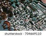 ancient metal objects. flea...   Shutterstock . vector #704669110