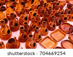 clay vessels flea market...   Shutterstock . vector #704669254
