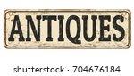 antiques vintage rusty metal... | Shutterstock .eps vector #704676184